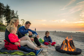 Lagerfeuer am Ostsee Strand